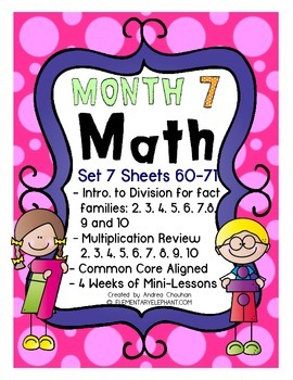 MATH Skill Sheets & Mini-Lessons MONTH 7 - Introduction to