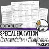 Special Education - Accommodation and Modification Tracker