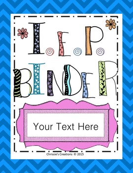 Special Education Binder covers and dividers: Editable
