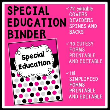 Special Education Teacher Binder with IEP Intervention Org