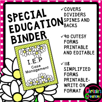 IEP Binder:Special Education Binder: IEP case managment bi