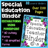 Special Education binder {Printables} with organizational forms