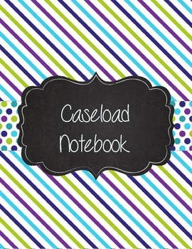 Special Education Caseload Teacher Binder Teal and Purple