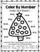 Special Education Christmas - Color By Number - Dollar Up