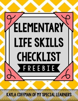Special Education Forms: Life Skills for Elementary