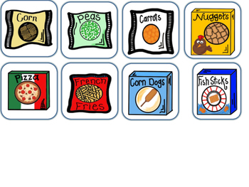 Special Education Frozen Food Task Cards