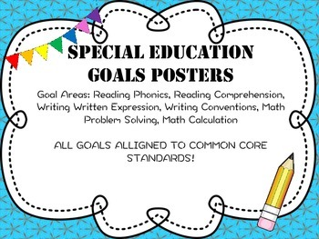 Special Education Goal Standards