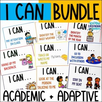 Special Education I Can Academic and Adaptive Skill Statem