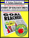 Special Education IEP Goal Data Sheets for Teachers & Stud