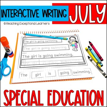 July Interactive Journals for Special Education