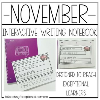November Interactive Journals for Special Education