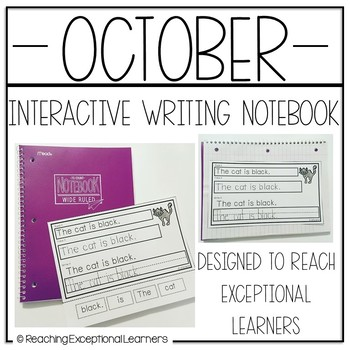 October Interactive Journals for Special Education