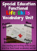 Special Education Life Skills Functional Vocabulary for wo