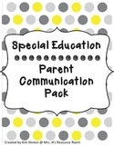 Special Education-Parent Communication Pack