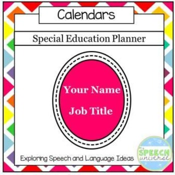 Special Education Planner {Bright Colors and Black and White}