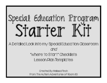 Special Education Program Starter Kit- DISTRICT LICENSE