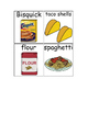 Special Education Reading: Grocery Store Words Picture ID