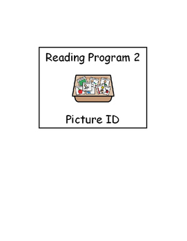 Special Education Reading Program Picture Supports 2