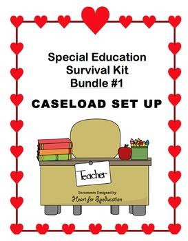Special Education Survival Kit: CASELOAD SET UP (Bundle #1)