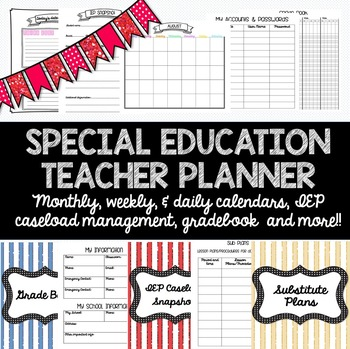 Special Education Teacher Planner for ANY YEAR! Caseload M