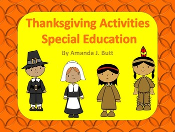 Special Education Thanksgiving Activities - Autism; Visual