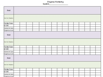 Special Education and RTI Excel Documents for Organization