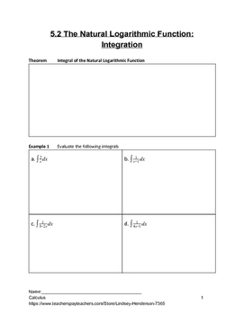 Special Functions Differentiation and Integration Lesson 2