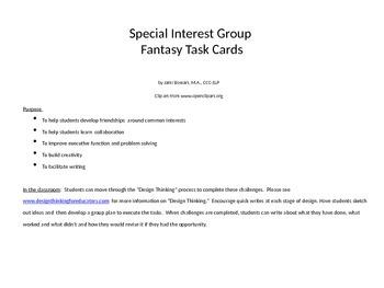 Special Interest Group Fantasy Task Cards