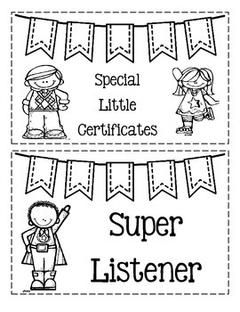 Special Little Certificates