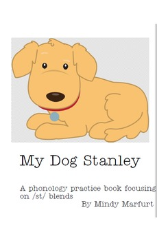 Special Needs Preschool Interactive Phonology Book for /st/