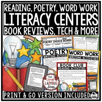 Literacy Centers Activities 2nd grade, 3rd grade & 4th gra