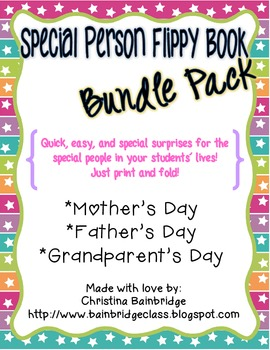 Special People Flippy Book Bundle- Mother's Day, Father's