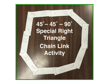 Special Right Triangle 45-45-90 Chain Link Activity