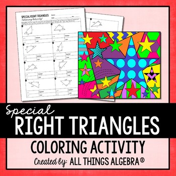 It is a graphic of Enterprising congruent triangles coloring activity