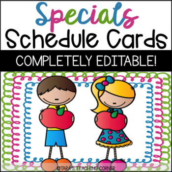 Daily Special Schedule Cards