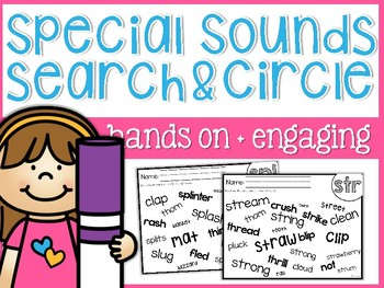 Special Sounds Search and Circle Sheets