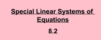 Special linear system of equations notes