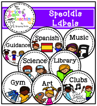 Specials Labels (The Price of Teaching Clipart Set)