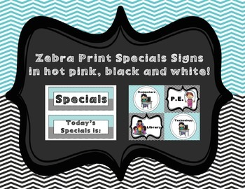 Specials Signs (Teal and Black)