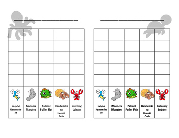 Specific Praise Behavior Chart (Sea life themed!)
