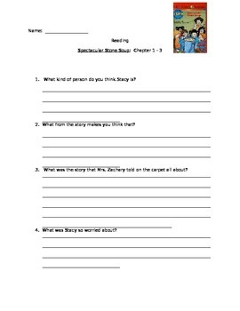 Spectacular Stone Soup Questions Chapter 1 - 3