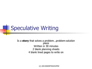 Speculative Writing PowerPoint
