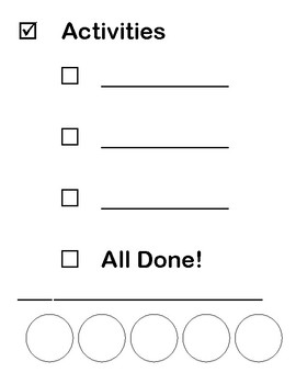 Speech Activities Visual Schedule/Checklist