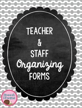 Classroom Teacher Organizing Forms Checklists FREE