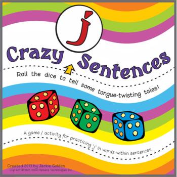 "Speech Artic Activity: ""Crazy 'j' Sentences"
