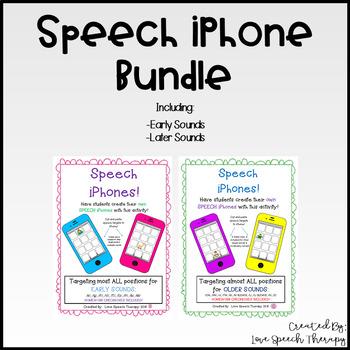 Speech Artic iPhone BUNDLE!  NO Prep!  Print and Go!