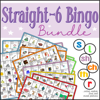 Speech Artic - s, l, r, sh, ch, th - Connect-6 Bingo Bundle