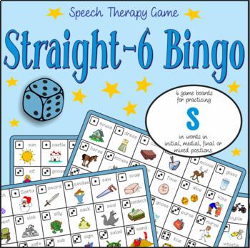 Speech Artic - /s/ sound: Connect-6 Bingo Game