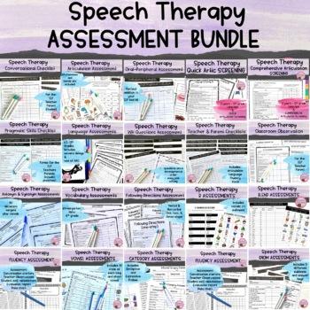 Speech Therapy Assessment BUNDLE {Pragmatics Conversationa