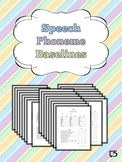 Articulation & Speech Progress Monitoring ALL PHONEMES, BL